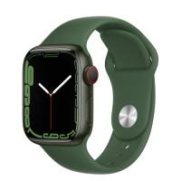 Apple Watch Series 7 GPS 45mm Green Aluminium Case with Clover Sport Band Green