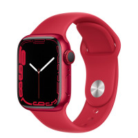 Apple Watch Series 7 GPS 45mm Red Aluminium Case with Sport Band Red