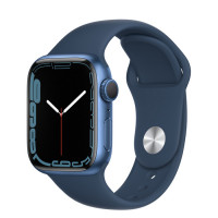 Apple Watch Series 7 GPS 45mm Blue Aluminium Case with Sport Band Abyss Blue
