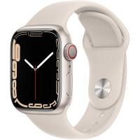 Apple Watch Series 7 GPS 45mm Starlight Aluminium Case with Sport Band Starlight
