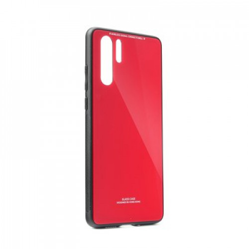 Гръб GLASS Case - Samsung Galaxy A41 червен
