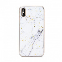 Силиконов Гръб Forcell MARBLE Case За Apple iPhone 12 White