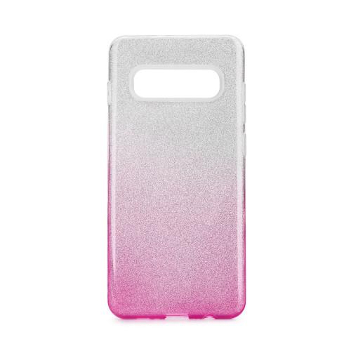 Гръб Forcell SHINING - Samsung Galaxy S10 Plus прозрачен-розов