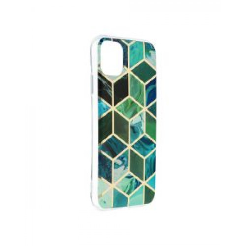 Гръб Forcell MARBLE COSMO - Apple iPhone 11 Green