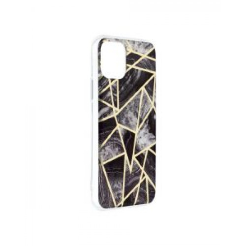 Гръб Forcell MARBLE COSMO - Apple iPhone 12 Black
