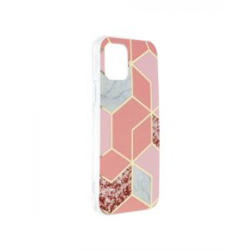 Гръб Forcell MARBLE COSMO - Apple iPhone 12 Pink