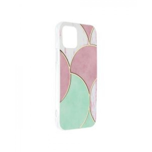 Гръб Forcell MARBLE COSMO - Apple iPhone 12 Rose
