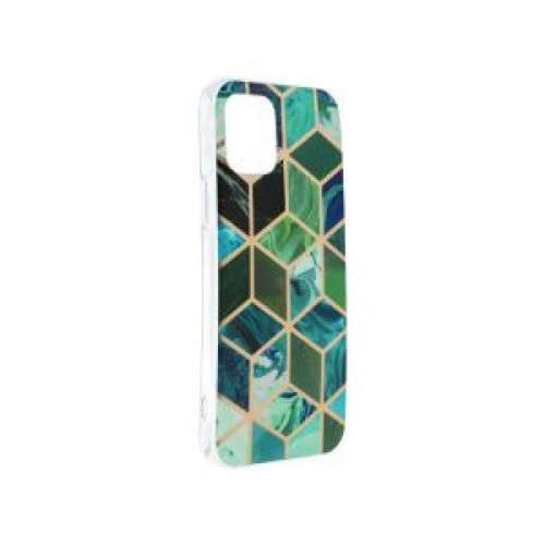 Гръб Forcell MARBLE COSMO - Apple iPhone 12 Green