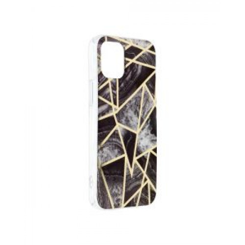 Гръб Forcell MARBLE COSMO - Apple iPhone 12 mini Black