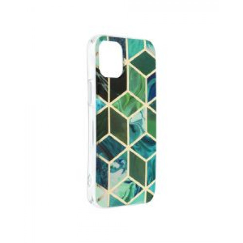 Гръб Forcell MARBLE COSMO - Apple iPhone 12 mini Green