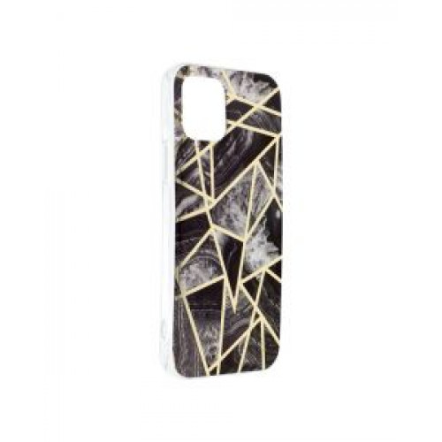 Гръб Forcell MARBLE COSMO - Apple iPhone 12 Pro Black