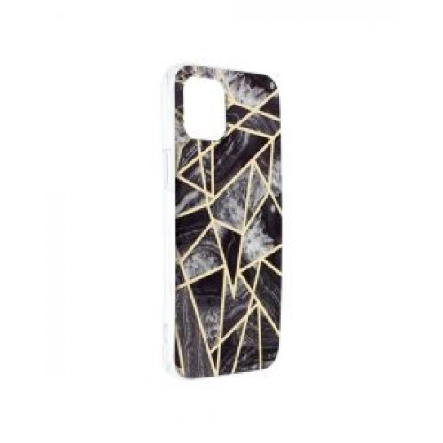 Гръб Forcell MARBLE COSMO - Apple iPhone 12 Pro Max Black