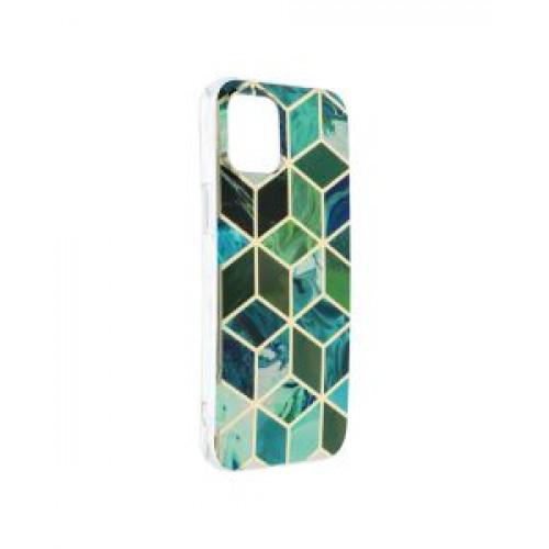 Гръб Forcell MARBLE COSMO - Apple iPhone 12 Pro Max Green