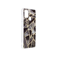 Гръб Forcell MARBLE COSMO - Samsung Galaxy A21S Black