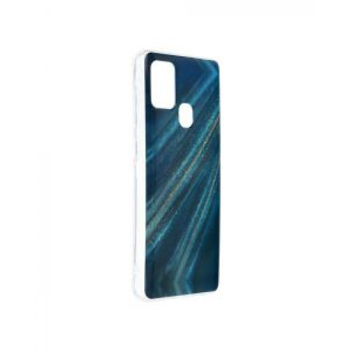 Гръб Forcell MARBLE COSMO - Samsung Galaxy A21S Blue