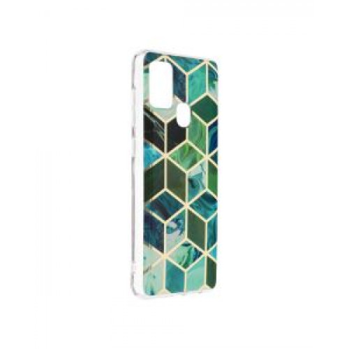 Гръб Forcell MARBLE COSMO - Samsung Galaxy A21S Green