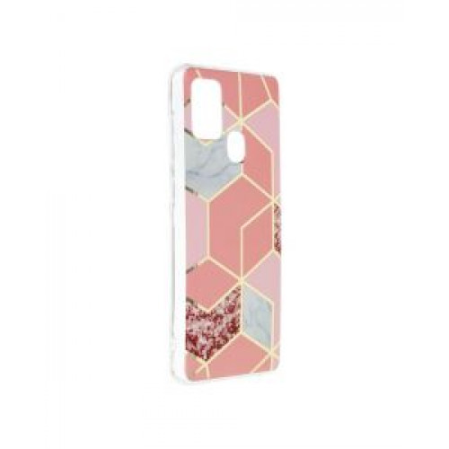 Гръб Forcell MARBLE COSMO - Samsung Galaxy A21S Pink