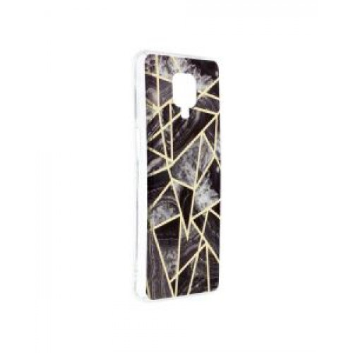 Гръб Forcell MARBLE COSMO - Xiaomi Redmi Note 9S Black