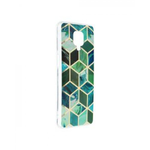 Гръб Forcell MARBLE COSMO - Xiaomi Redmi Note 9S Green