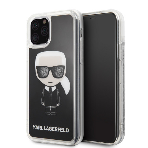 Оригинален Гръб KARL LAGERFELD - Apple iPhone 11 Pro - Black Transparent