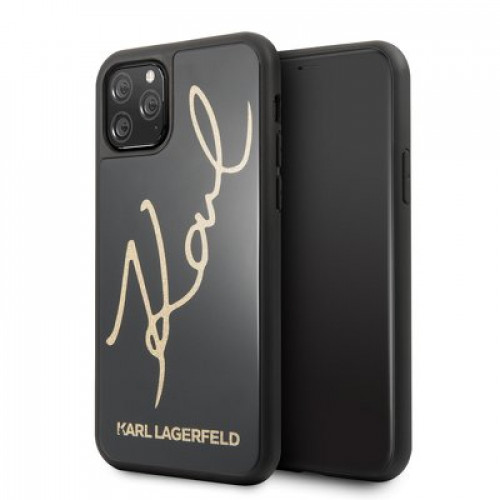 Оригинален Гръб KARL LAGERFELD - Apple iPhone 11 Pro - Gold Lettering