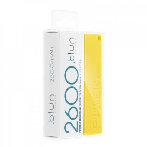 Преносима батерия PERFUME 2600 mAh Blun - Xiaomi Pocophone F2 Pro жълт