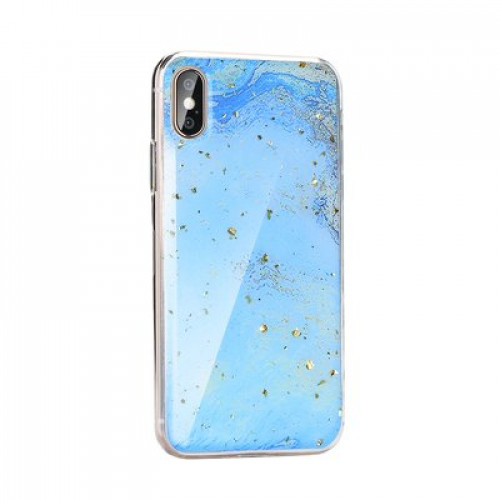 Гръб Forcell Marble - Samsung Galaxy A10 син