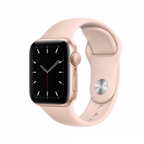Apple Watch SE GPS 44mm Gold Aluminum Case with Sport Band Pink Sand