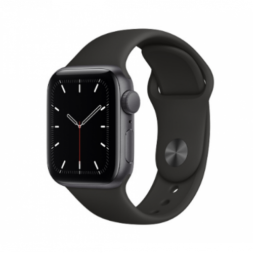 Apple Watch SE GPS 40mm Grey Aluminum Case with Sport Band Black