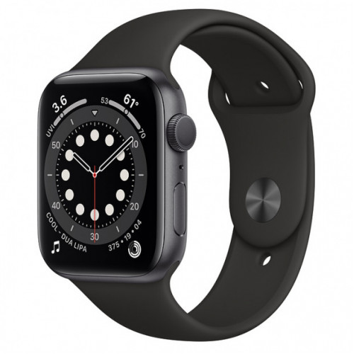 Apple Watch Series 6 GPS 40mm Grey Aluminum Case with Sport Band Black