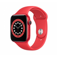 Apple Watch Series 6 GPS 44mm Red Aluminum Case with Sport Band Red