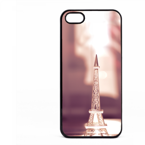 PVC гръб - 2d за Apple iPhone 5 - eiffel