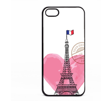 PVC гръб - 2d за Apple iPhone 5 - paris3-sized