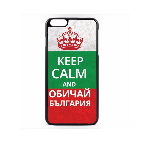 PVC гръб - 2d за Apple iPhone 6 Plus - keep calm