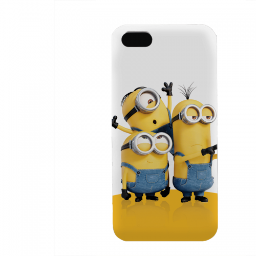 PVC гръб - 3d за Apple iPhone 5 - minion3
