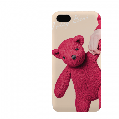 PVC гръб - 3d за Apple iPhone 5 - teddy-bear