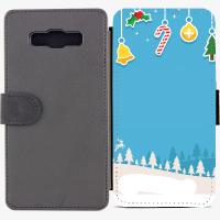 Калъф тип тефтер за Samsung Galaxy A7 - christmas5