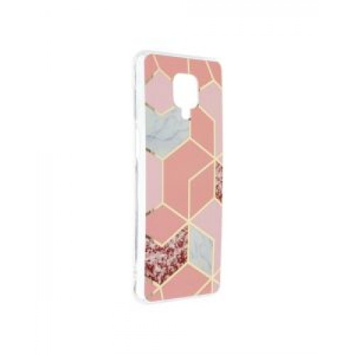 Гръб Forcell MARBLE COSMO - Xiaomi Redmi Note 9S Pink