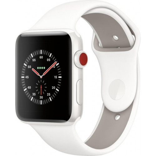 Apple Watch Series 3 GPS 42mm Sport Band White Silver