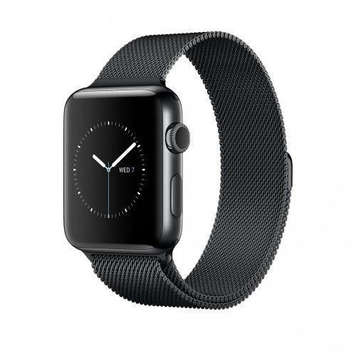 Apple Watch Series 2 GPS 38mm Black Case Milanese Loop