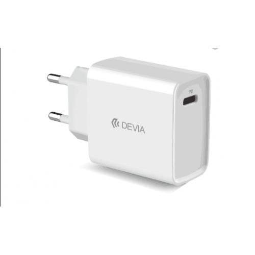 Зарядно за iPhone Devia White