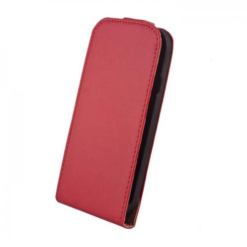 Кожен калъф тефтер - Huawei P8 червен