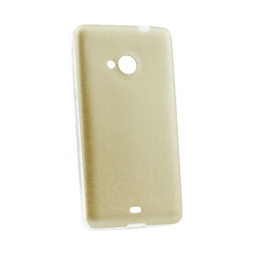 Силиконов калъф Jelly Case Leather - Sony Xperia Z5 Compact златен