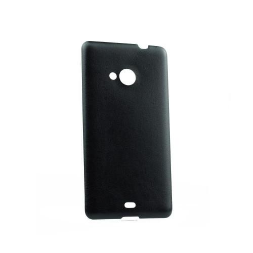 Силиконов калъф Jelly Case Leather - Sony Xperia Z5 Compact черен