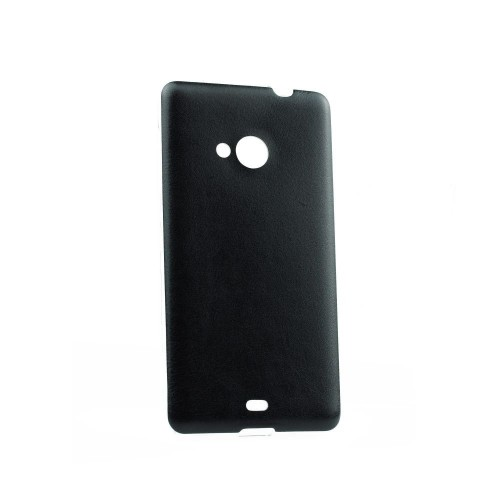 Силиконов калъф Jelly Case Leather - Samsung Galaxy S6 Edge черен