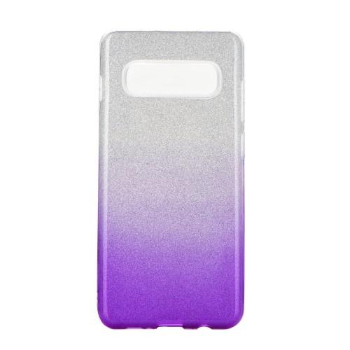 Гръб Forcell SHINING - Huawei P40 Lite E прозрачен-лилав