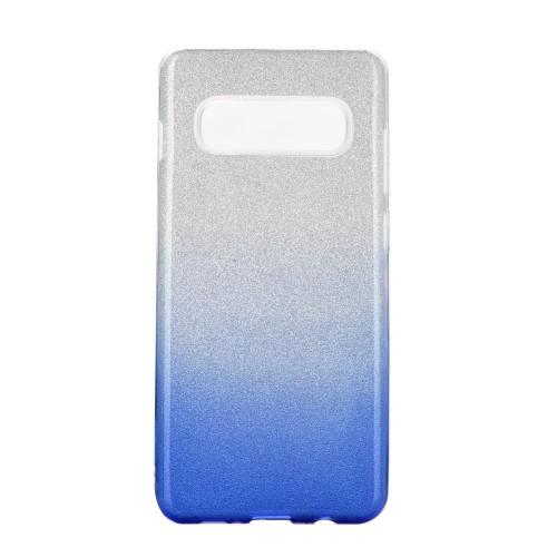 Гръб Forcell SHINING - Samsung Galaxy S20 Plus прозрачен-син