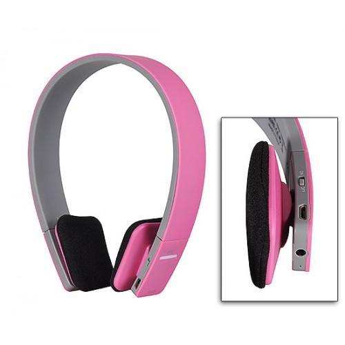 Безжични Bluetooth слушалки с микрофон BQ618 Pink