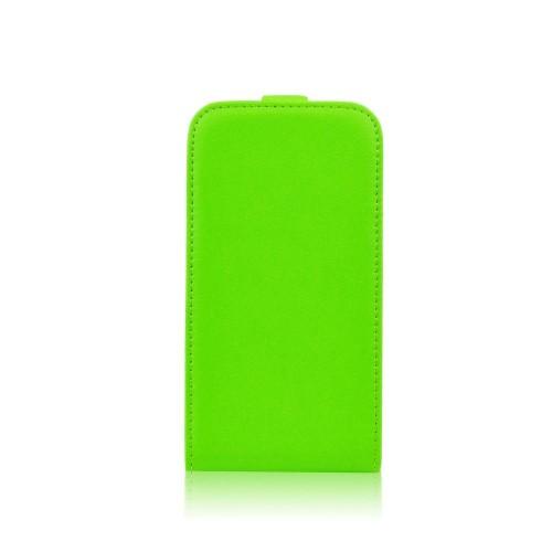 Калъф-тефтер със силиконова рамка - Samsung Galaxy J5 зелен
