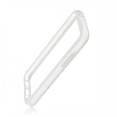 Силиконов Bumper - Apple iPhone 5S бял с прозрачно